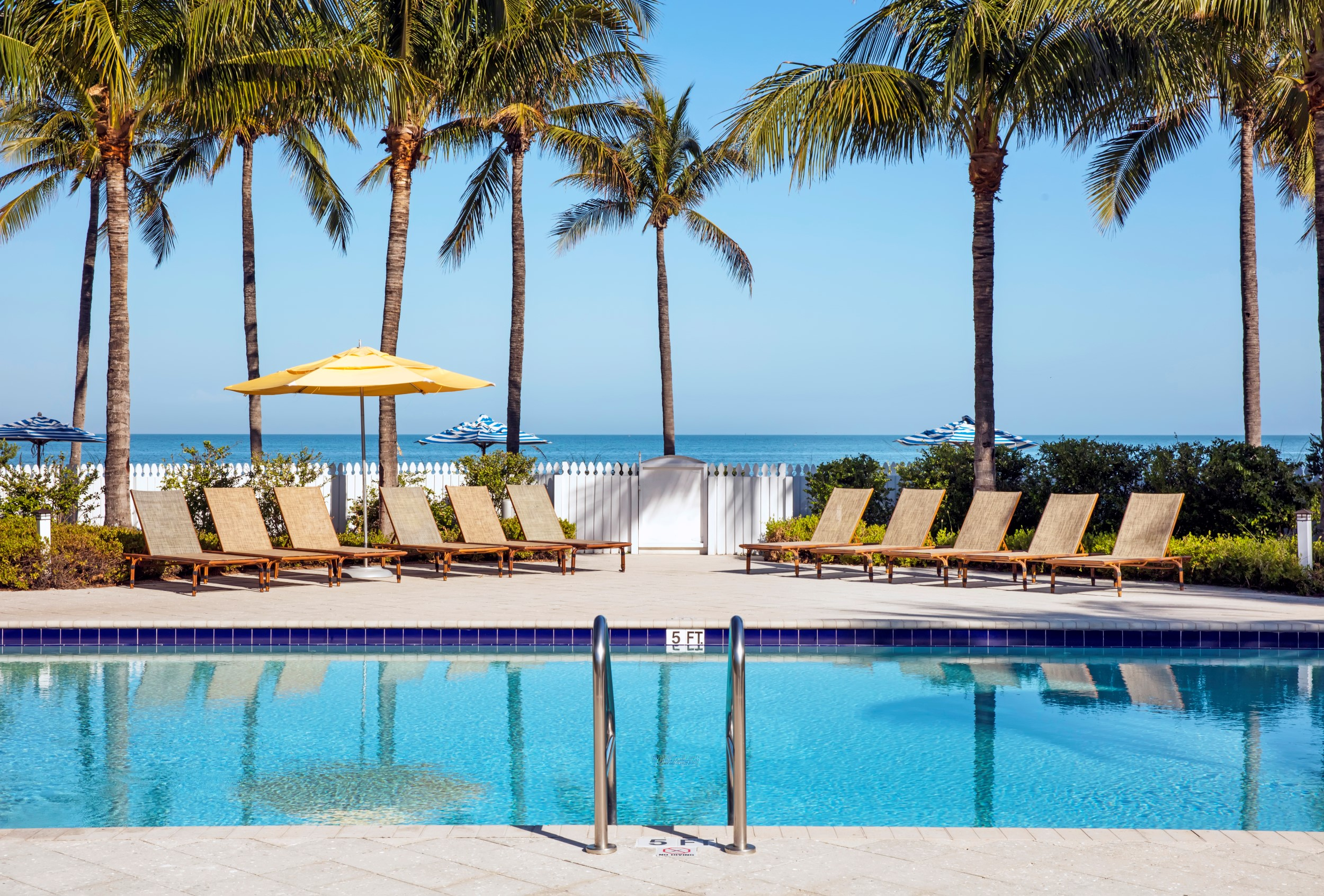 Sparkling swimming pool in the Florida Keys