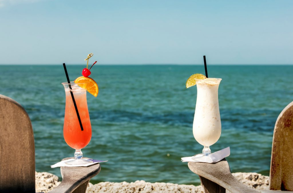Unwind with cocktails on a private beach at Tranquility Bay Resort, Marathon