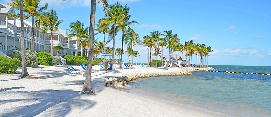 Private beach in the Florida Keys