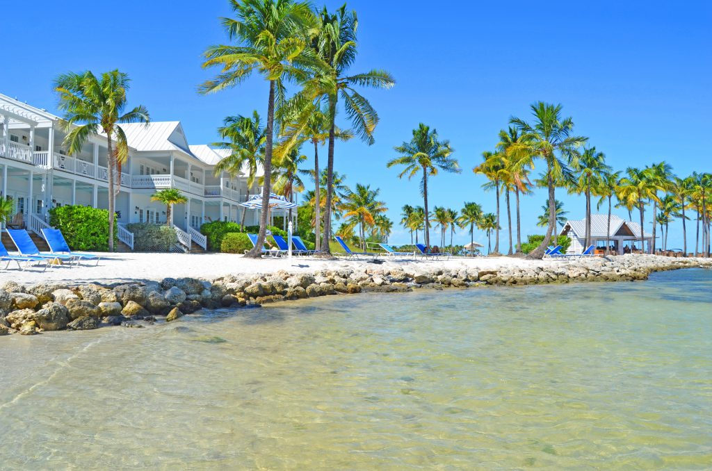 Beachfront beach houses with access to private beach, at Tranquility Bay Resort, Florida Keys