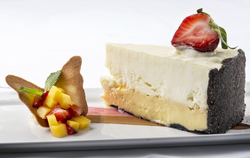 Cheesecake at Butterfly Cafe, Tranquility Bay Resort, Florida Ke