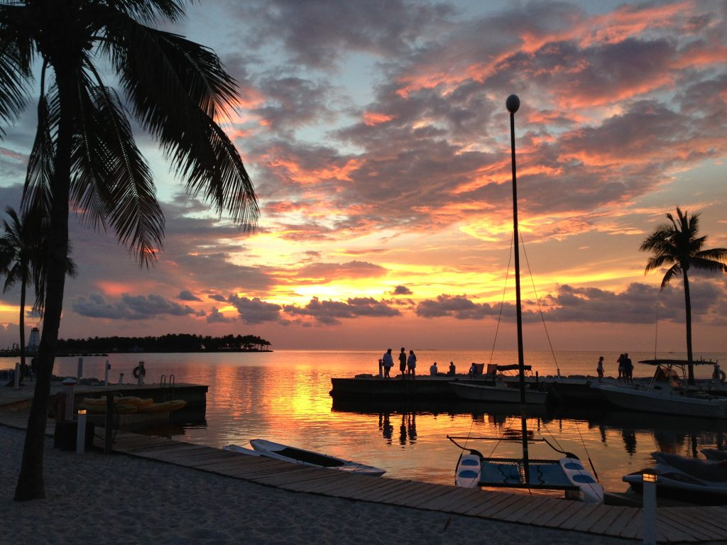 Water sports and sunset in Marathon, Florida Keys