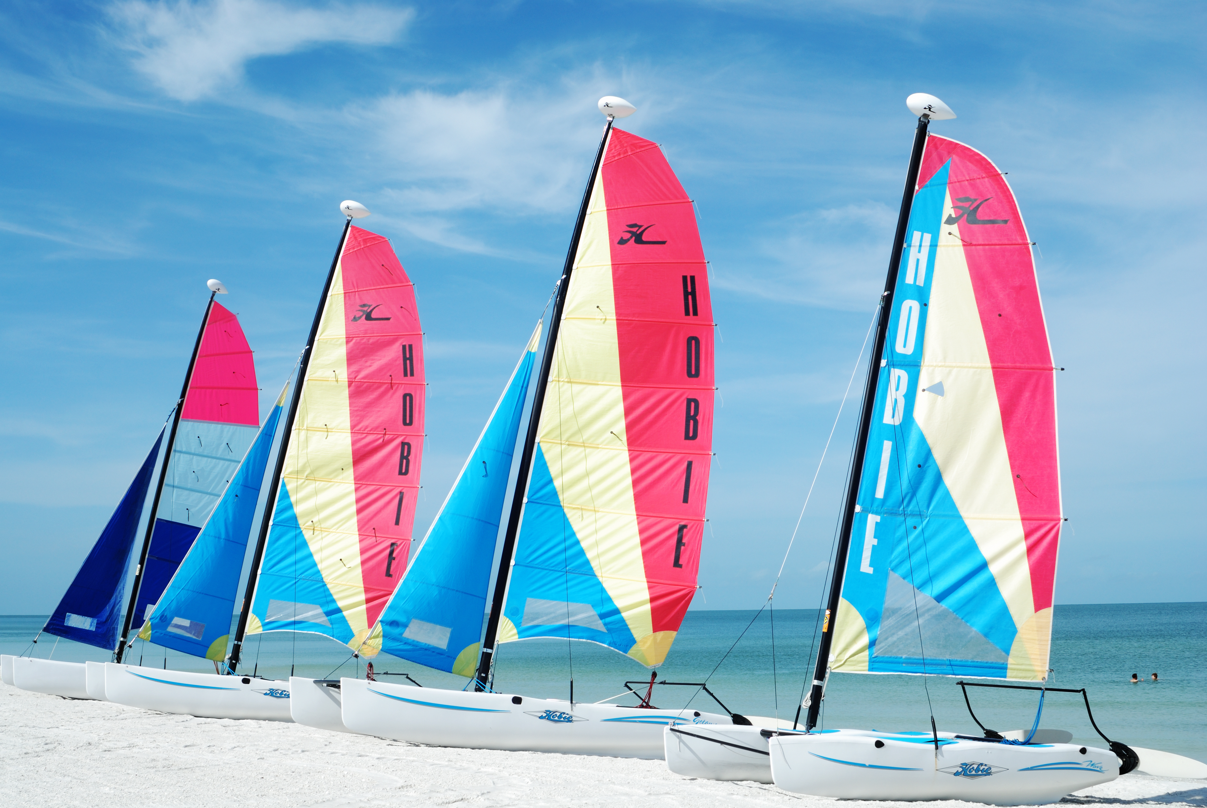 Sail boats in the Florida Keys