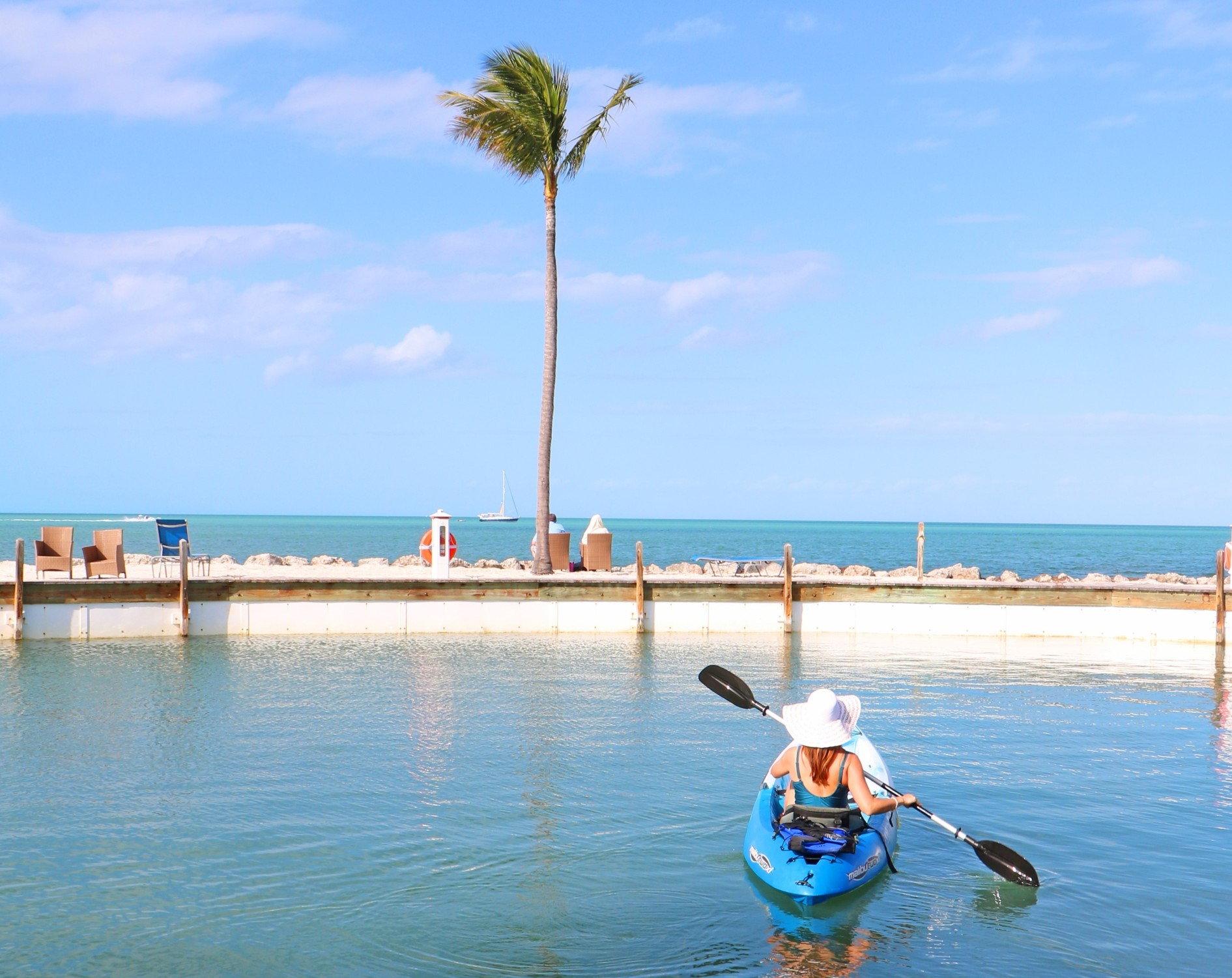 Girl kayaking in the Florida Keys